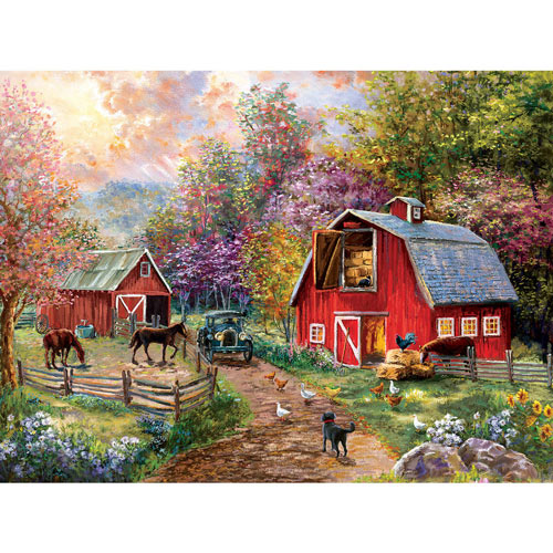 Barnyard Visit 1000 Piece Jigsaw Puzzle