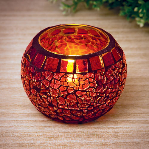 Mosaic Globe with Tea Light