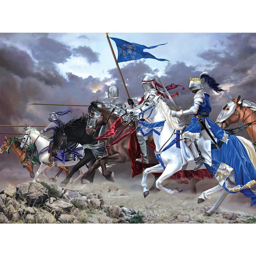 Knights Charge 1000 Piece Jigsaw Puzzle