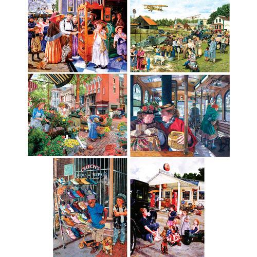 Set of 6: Susan Brabeau 300 Large Piece Jigsaw Puzzles