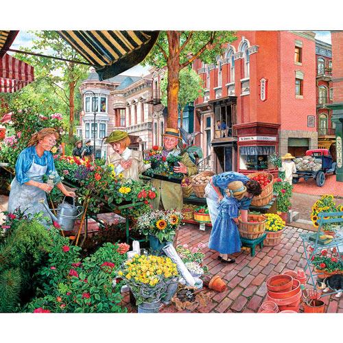 Sidewalk Flower Sale 1000 Piece Jigsaw Puzzle