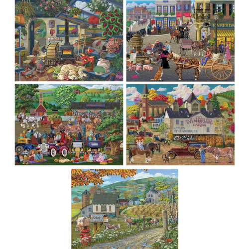 Set of 5: Joseph Burgess 300 Large Piece Jigsaw Puzzles