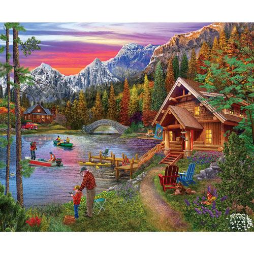 Stone Bridge Lake 300 Large Piece Jigsaw Puzzle