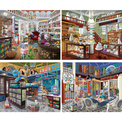 Set of 4: Chris Bigelow 1000 Piece Jigsaw Puzzles