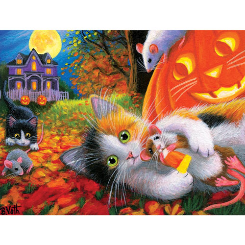 Halloween Fun With Friends 300 Large Piece Jigsaw Puzzle
