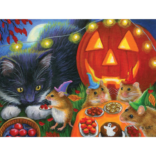 Whiskers Halloween Eve 300 Large Piece Jigsaw Puzzle