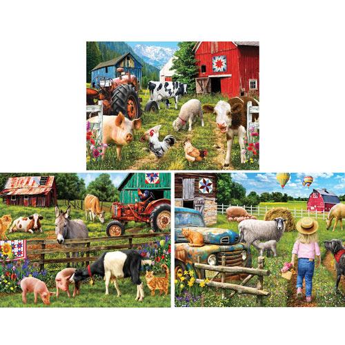 Set of 3: Sharon Steele 750 Piece Jigsaw Puzzles