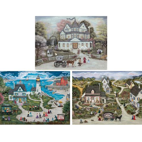 Set of 3: Ann Stookey 750 Piece Jigsaw Puzzles
