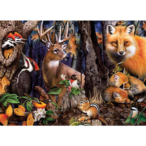 Forest Gathering 1000 Piece Jigsaw Puzzle