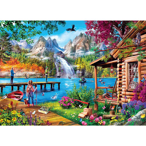 Fishing With Pappy 1000 Piece Jigsaw Puzzle