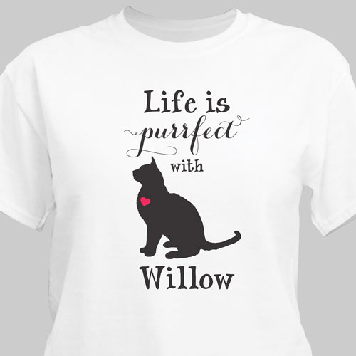 Personalized Life Is Purrfect T-Shirt