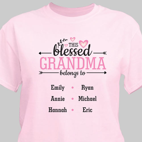 Personalized This Blessed Grandma T-Shirt