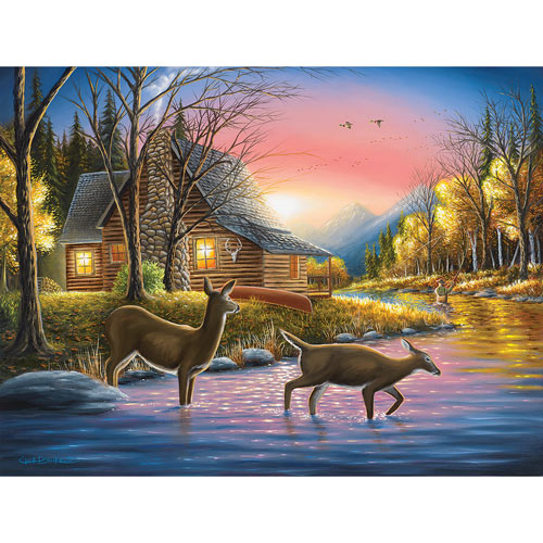 River's Crossing 300 Large Piece Jigsaw Puzzle