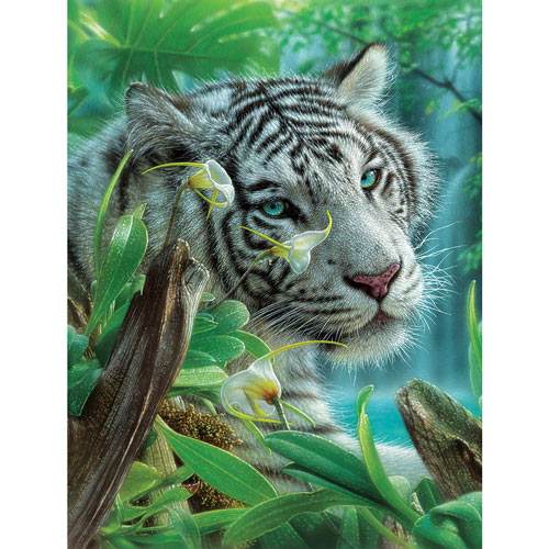 The White Tiger Of Eden 300 Large Piece Jigsaw Puzzle