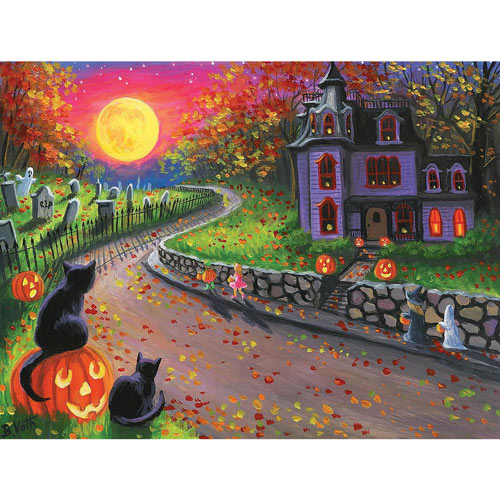 On A Spooky Night 300 Large Piece Jigsaw Puzzle