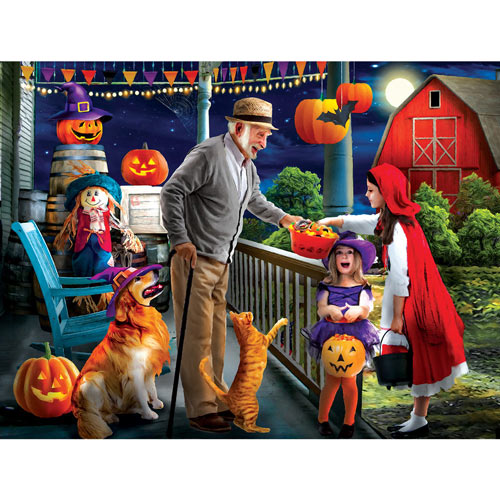Halloween At Grandpa's 500 Piece Jigsaw Puzzle