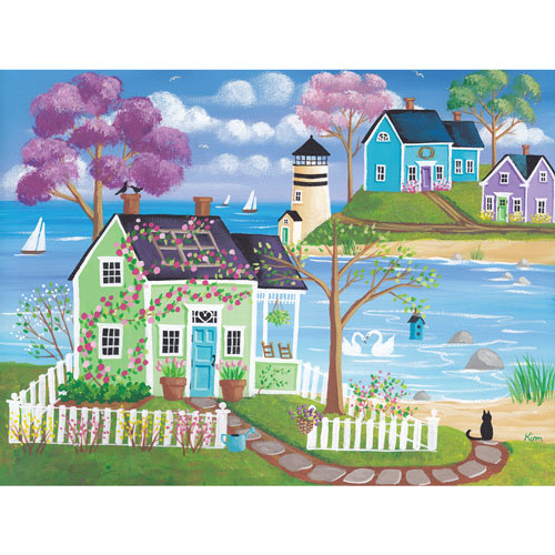 Spring Meadow Cove 500 Piece Jigsaw Puzzle