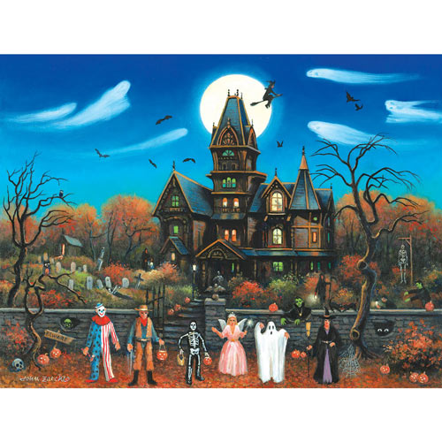 Trick Or Treaters Beware 300 Large Piece Jigsaw Puzzle