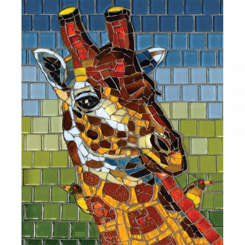 Giraffe Mosaic 1000 Piece Jigsaw Puzzle