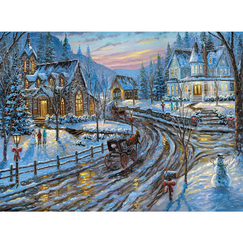 Holiday Chapel 300 Large Piece Jigsaw Puzzle