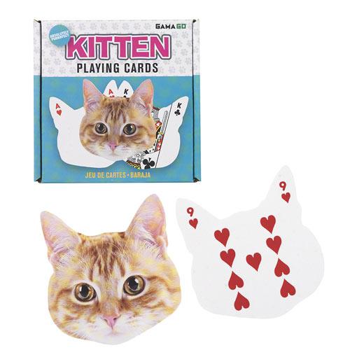 Kitten Shaped Playing Card