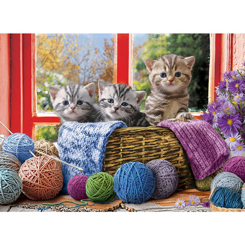 Knittin' Kittens 500 Piece Jigsaw Puzzle
