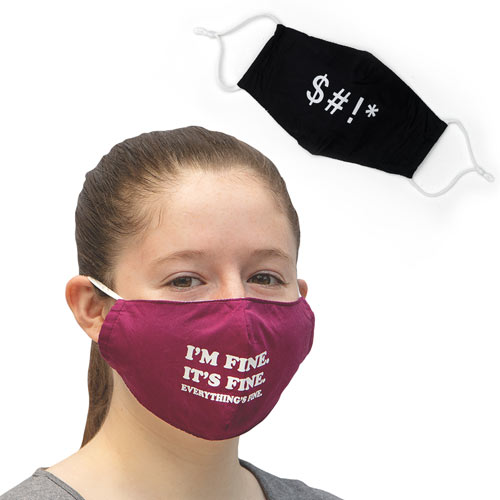 Set of Two Funny Face Masks