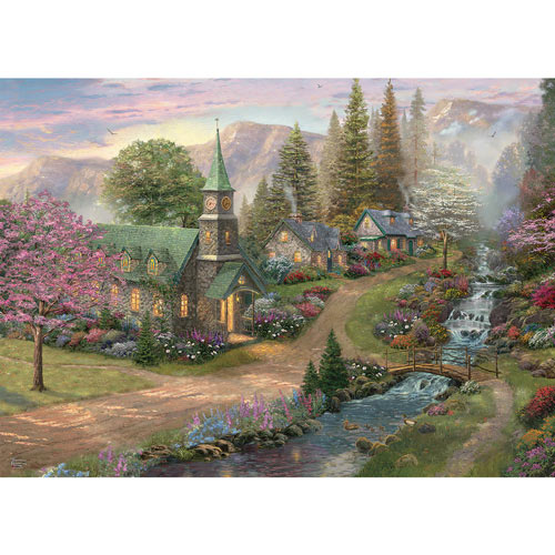 Sunday Morning Chapel 1000 Piece Jigsaw Puzzle