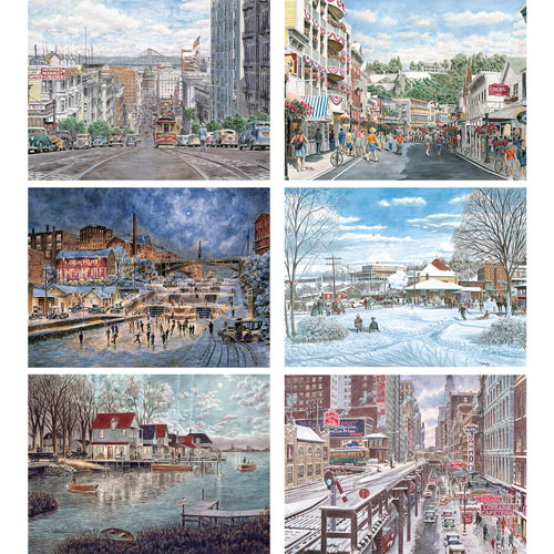 Set of 6: Stanton Manolakas 1000 Piece Jigsaw Puzzle