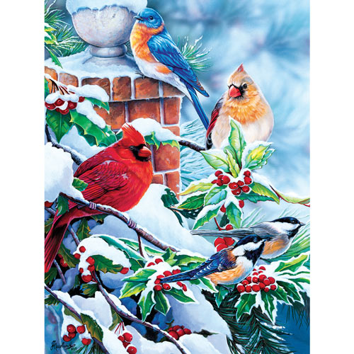 Bright Holly Friends 550 Piece Jigsaw Puzzle