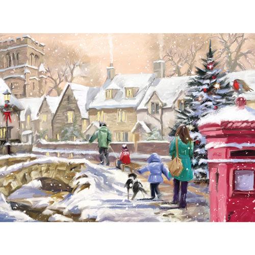 Snowy Village 300 Large Piece Jigsaw Puzzle