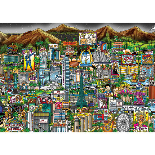 Midnight In Vegas 300 Large Piece Jigsaw Puzzle