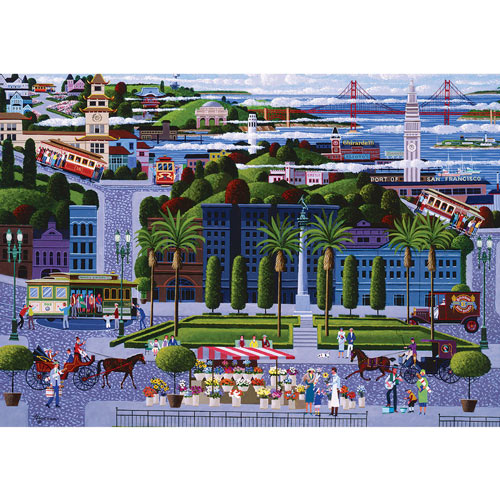 San Francisco Cable Cars 300 Large Piece Jigsaw Puzzle