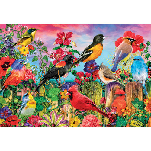 Birds And Blooms 500 Piece Jigsaw Puzzle