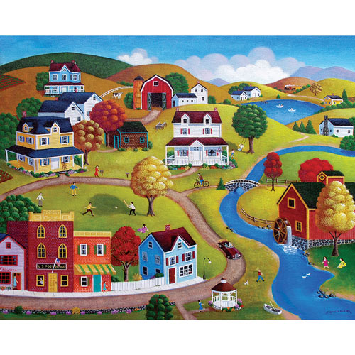 Country Village 300 Large Piece Jigsaw Puzzle