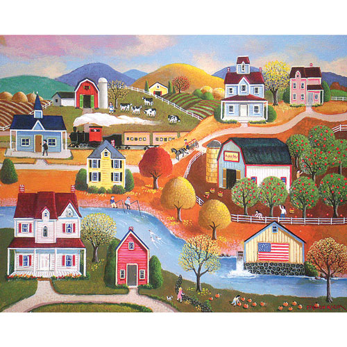 Farm In Autumn 300 Large Piece Jigsaw Puzzle