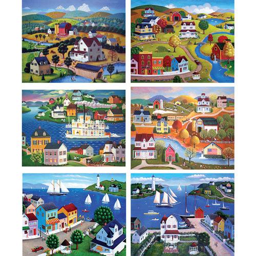 Set of 6: Steven Klein 300 Large Piece Jigsaw Puzzles