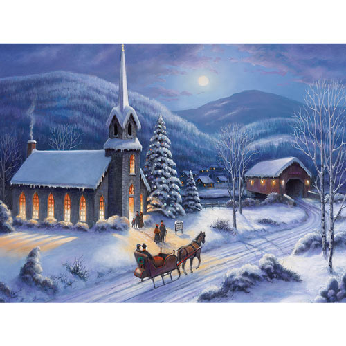 Moonlight In Vermont 300 Large Piece Jigsaw Puzzle