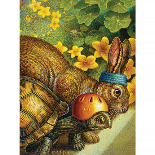 Tortoise And Hare 300 Large Piece Jigsaw Puzzle