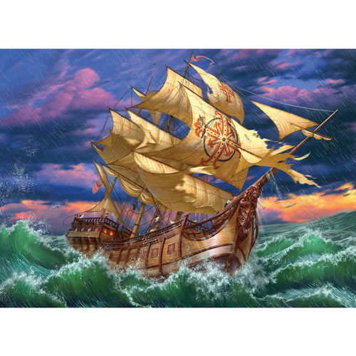 Ship In Storm 1500 Piece Jigsaw Puzzle