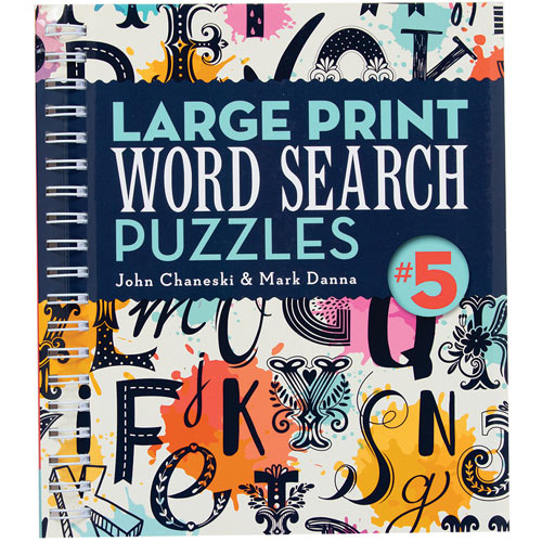 Large Print Word Puzzles 5 Book