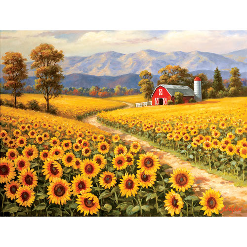 Red River Sunflower Farm 300 Large Piece Jigsaw Puzzle
