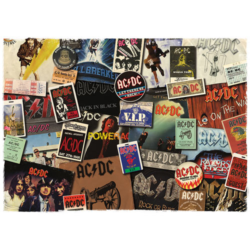AC/DC Albums 1000 Piece Jigsaw Puzzle