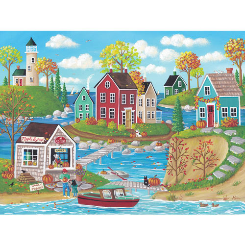 Autumn In Chestnut Cove 500 Piece Jigsaw Puzzle