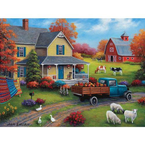 Harvest Time On The Farm 500 Piece Jigsaw Puzzle