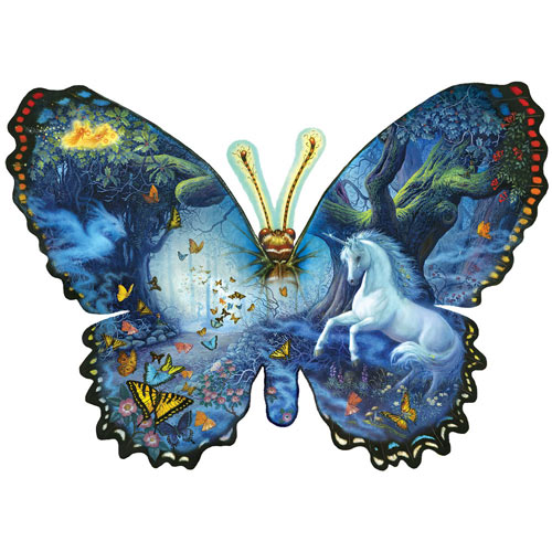 Fantasy Butterfly 1000 Piece Shaped Puzzle