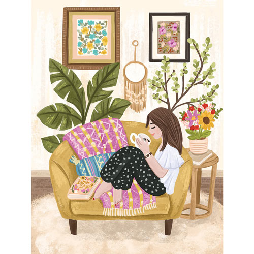 Relaxing Nook With Candle 500 Piece Jigsaw Puzzle