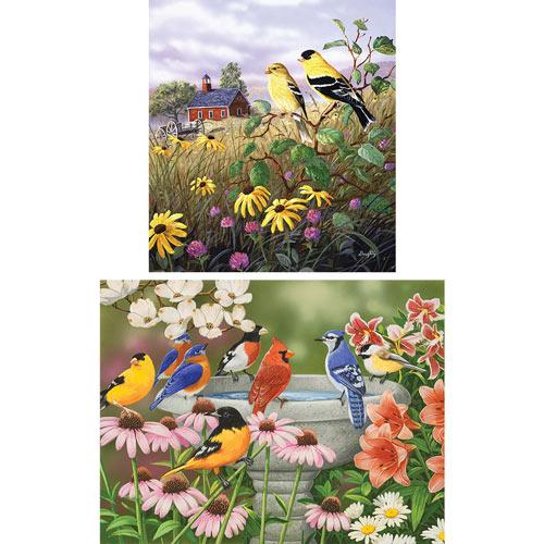 Set of 2: Beautiful Bird Puzzles