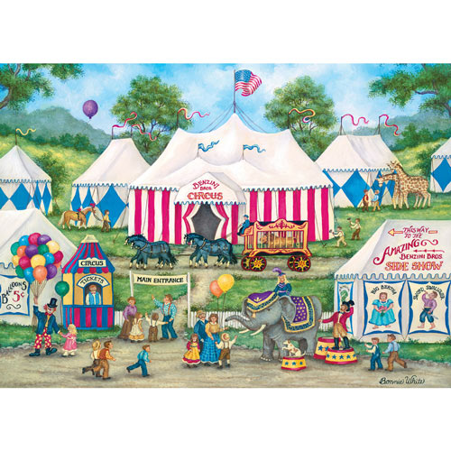 The Circus is Coming to Town 1000 Piece Jigsaw Puzzle