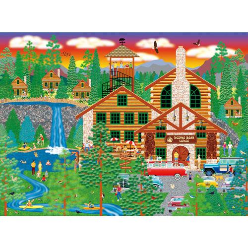 Dozing Bear Lodge 300 Large Piece Jigsaw Puzzle
